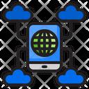 Smartphone Cloud Storage Icon