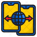 Smartphone Transfer World Icon
