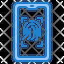 Smartphone Fingerprint Lock Icon