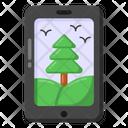 Online Landscape Mobile Landscape Digital Landscape Icon
