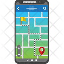 Smartphone Map Gps Icon