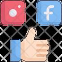 Internet Marketing Social Media Like Icon