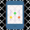 Smartphone Music Equalizer Icon