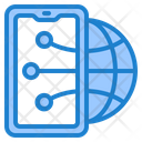 Smartphone Network Connection Icon