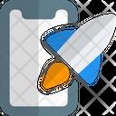 Smartphone Rocket Online Startup Mobile Startup Icon