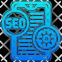 Smartphone Seo Optimization Icon