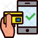 Smartphone Transaction Ok Icon