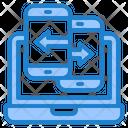 Smartphone Transfer Laptop Icon