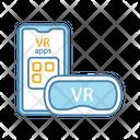 Smartphone VR Headset Icon
