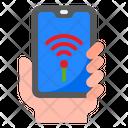 Smartphone Wifi Smartphone Mobilephone Icon