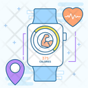 Smartwatch Fitness Tracker Smart Gadget Icon