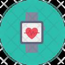Wrist Watch Heart Icon