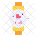 Smartwatch Time Heart Icon