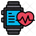 Smartwatch Heart Rate Online Icon