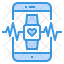 Heart Rate Health Smartphone Icon