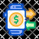 Smartwatch transaction Icon