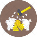 Smashed Piggy Bank Icon