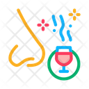 Smelling Wine Testing Icon