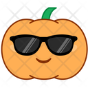 Smile Sunglasses Pumpkin Icon