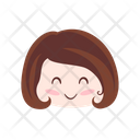Happy Laugh Girl Icon