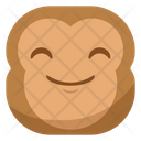 Smile Happiness Monkey Icon