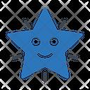 Smiley Face Star Icon
