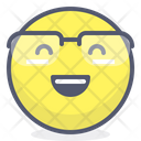 Glasses Happy Smile Icon