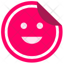 Sticker Smile Face Icon