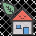 Smiley Eco House Ecology Eco Home Icon