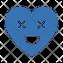 Heart Face Emoji Icon