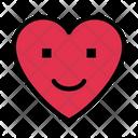 Smiley Face Heart Icon