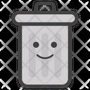 Smiley Face Bin Icon