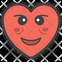 Smiley Heart Icon