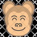 Smiley Monkey Face Icon