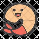 Smiley Shrimp Icon