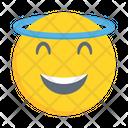 Smiling Emoticon Halo Icon
