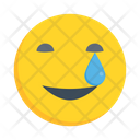 Smiling Facewithhappytears Smiley Icon