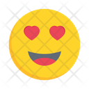 Smiling Hearteyes Love Icon