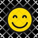 Smiling Face Eyes Icon