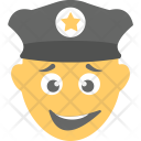 Police Officer Laughing Icon