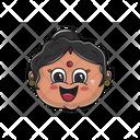 Smiling Aunt Icon