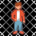 Smiling Boy Cheerful Preschooler Icon
