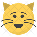 Smiling Cat Face Icon