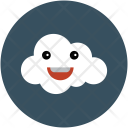 Smiling Cloud Cheerful Icon