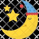 Smiling Moon Pleasant Icon