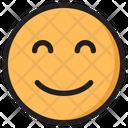 Smiling Eyes Emoji Expression Icon