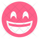 Pink Happy Laughing Icon