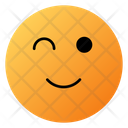 Smiling Face With Eyes Open Emoji Face Icon