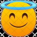 Smiling Face With Halo Emoji Emotion Icon