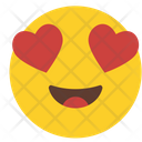 Smiling face with heart-shaped eyes Icon
